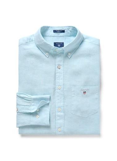 Gant Düz Regular Gömlek Yeşil